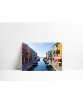 Cuadro en lienzo P004 Canal con Barcas