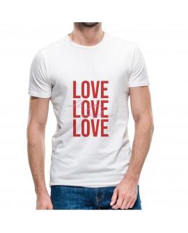 Camiseta Love Love Love Corte Recto