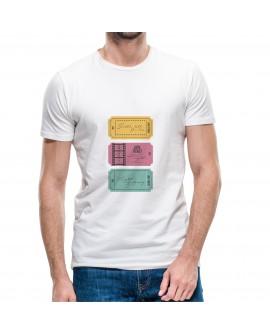 Camiseta Love Tickets Corte Recto