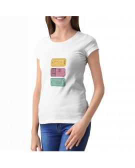 Camiseta Love Tickets Corte Entallado