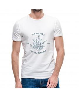 Camiseta Love You Today Personalizada Corte Recto
