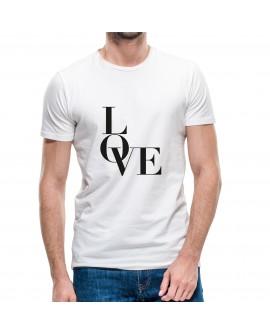 Camiseta Love Minimalist Corte Recto