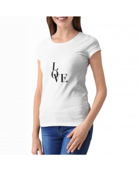 Camiseta Love Corte Entallado