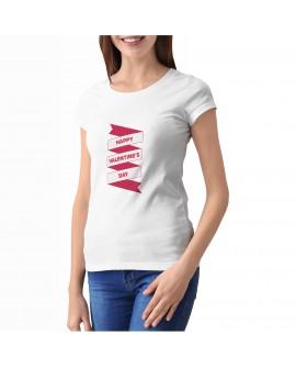 Camiseta Valentine's Day Corte Entallado