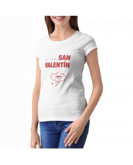 Camiseta Valentine's Crazy Corte Entallado