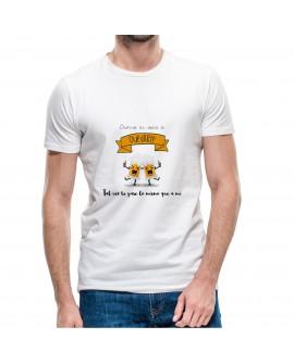 Camiseta Dime si vas a Quedarte Corte Recto