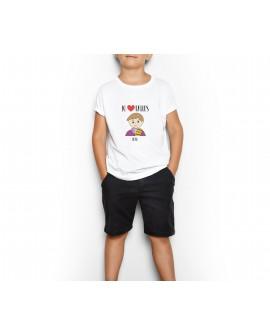 Camiseta Jo Cor Falles Ros Personalizada Infantil