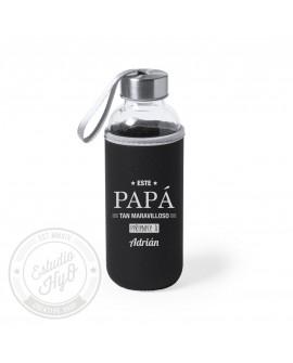 Botella Con Funda Papa Maravilloso Personalizada