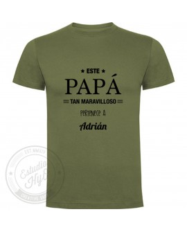Camiseta Papá Maravilloso Personalizada