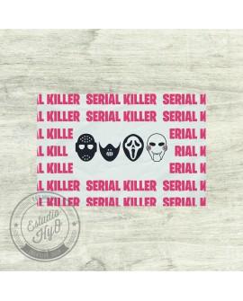 Mantel Individual Serial Killer Rojo