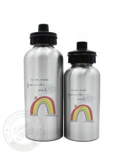 Botella Aluminio Madre Arcoiris