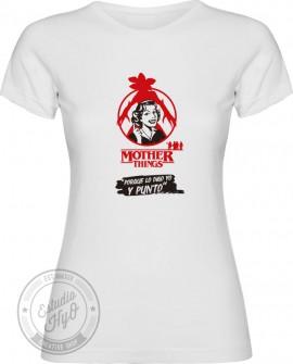 Camiseta Mother Things Y Punto Corte Entallado