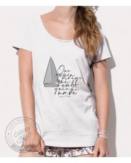 Camiseta Rumbo Corte Moderno Mujer