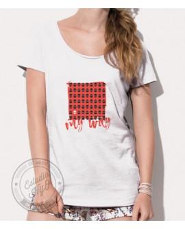 Camiseta My Way Corte Moderno Mujer