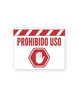"""Señalización Cartelería """"Prohibido Uso"""" Rectangular"""