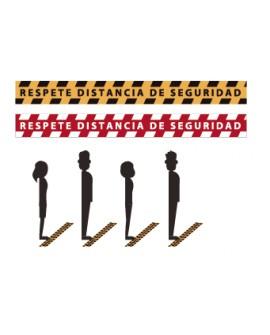 """Pack 5 Señalización Pisable """"Distancia de Seguridad"""""""