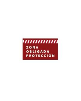 """Pack 5 Señalización Pisable """"Zona Obligada Protección"""""""