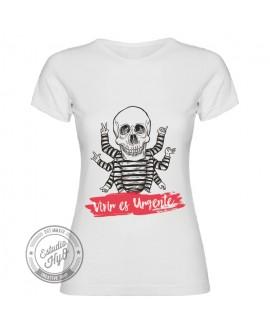 Camiseta Vivir es Urgente Corte Entallado