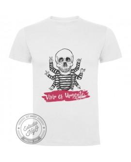 Camiseta Vivir es Urgente Corte Recto