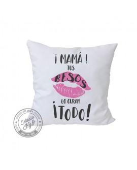 Funda de Cojín Mamá Tus Besos