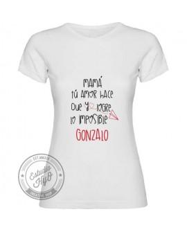 Camiseta Lo Imposible Personalizada Corte Entallado