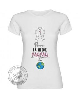 Camiseta La Mejor Mamá Corte Entallado