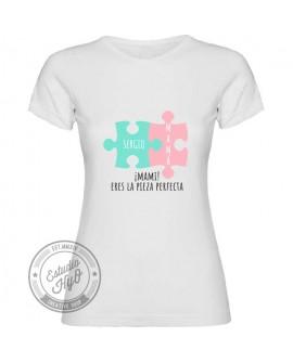 Camiseta Mamá 2 Piezas Personalizada Corte Entallado