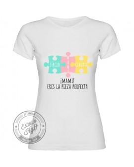 Camiseta Mamá 3 Piezas Personalizada Corte Entallado