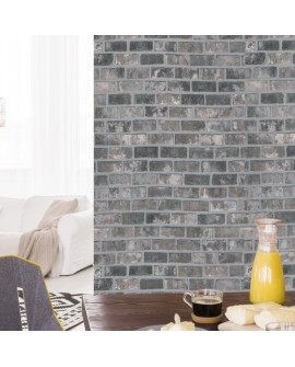 Vinilo Texturizado Efecto Gris Bricks (Ladrillo) W8